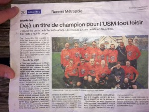 ouest france MORDELLES CHAMPION